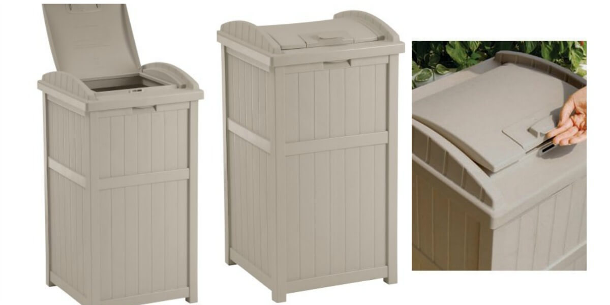 Preserve The Clean Feel Of Your Patio With A Beautiful Outdoor Trash Receptacle Normal Price Is 54 00 But Right Now It S On For Only 29 49