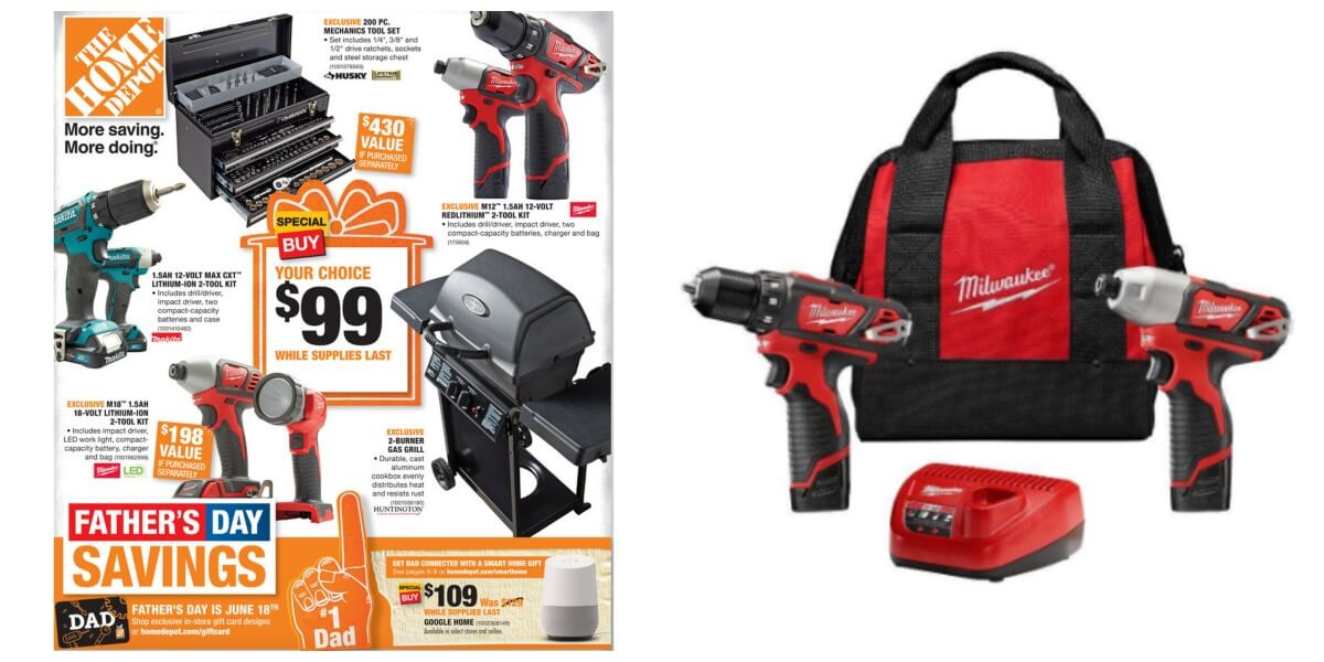 home depot $99 father's day deals grill, tools and more!living rich ...