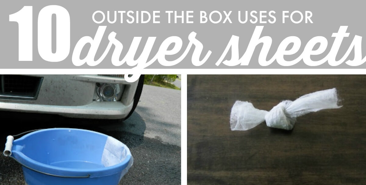 10 Outside The Box Uses For Dryer Sheets Including Cards