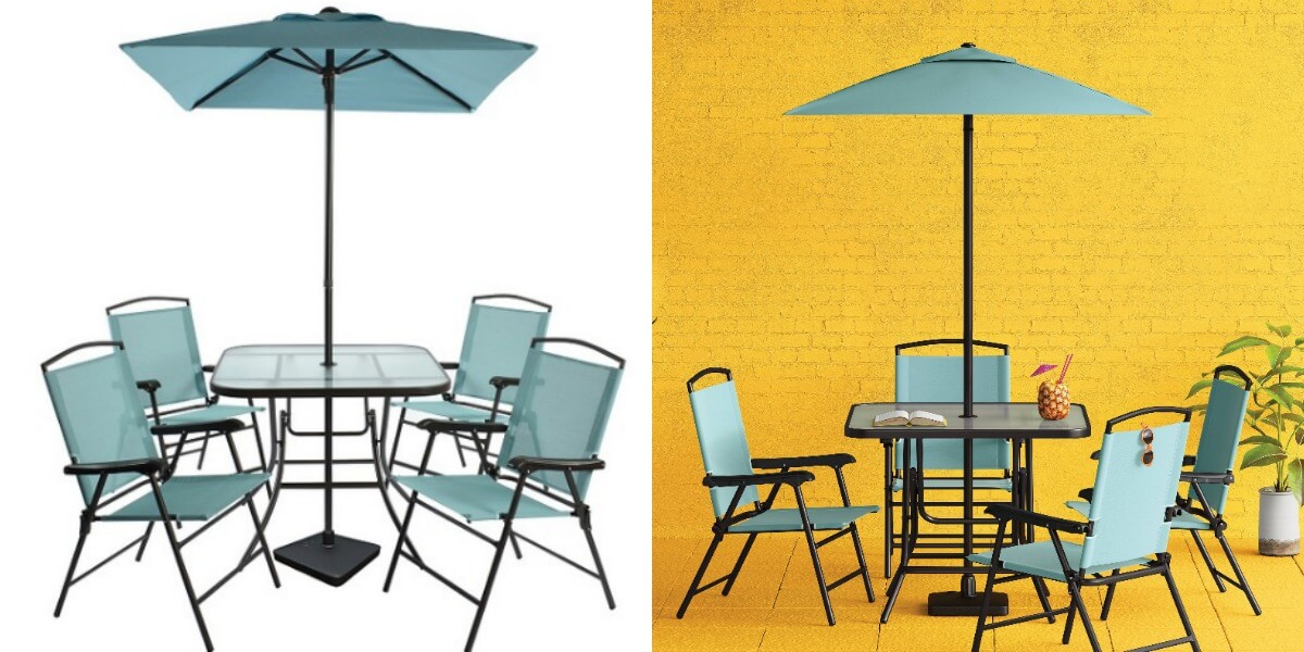 Target: 7pc Sling Folding Patio Dining Set Only $99 {Store