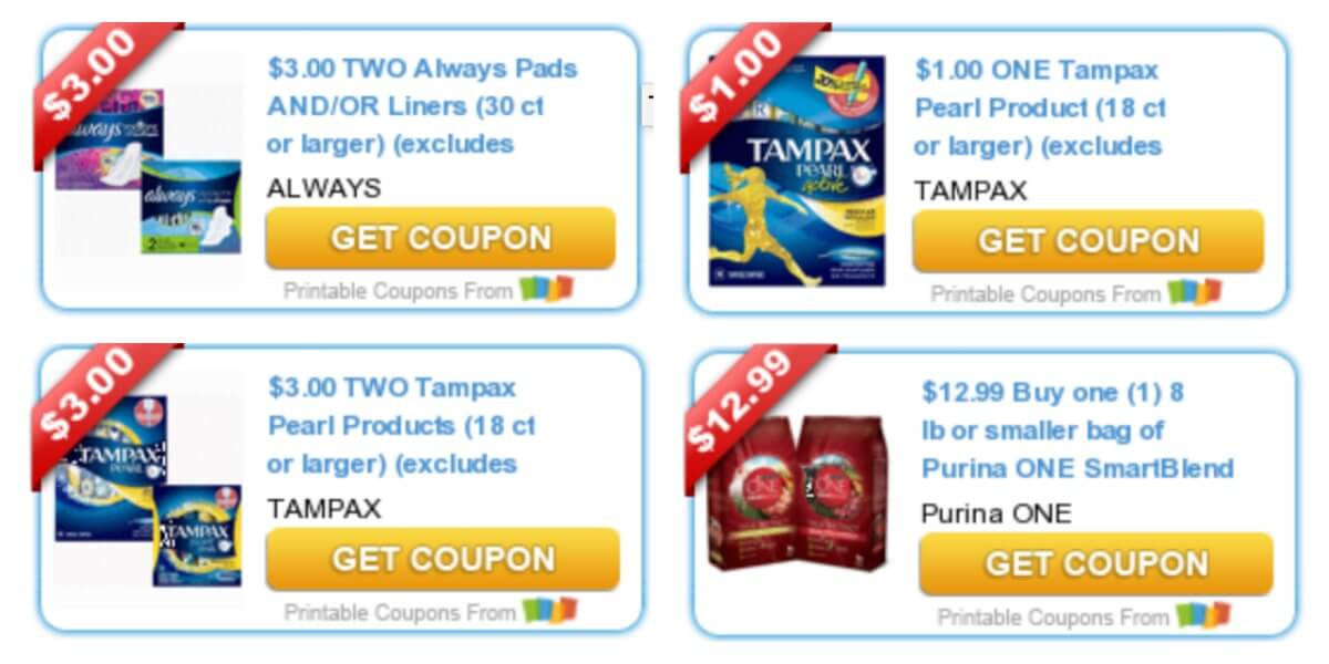 photograph relating to Tampax Coupon Printable titled Todays Supreme Fresh new Discount coupons - Cost savings towards Tampax, Purina, Mardi