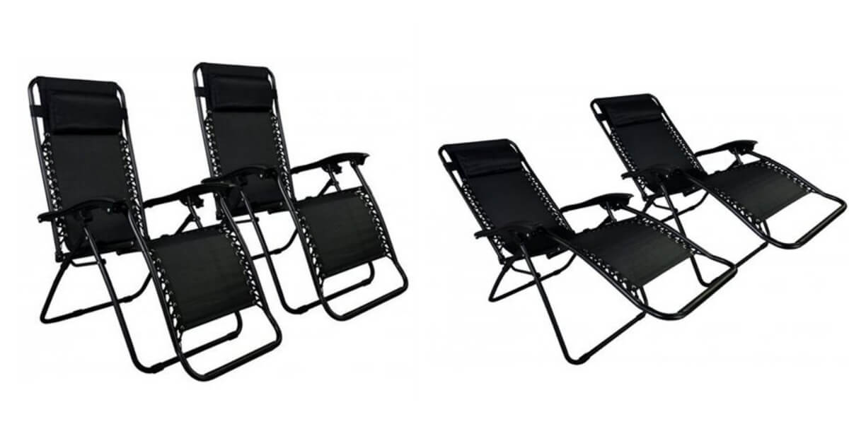 Zero Gravity Chairs Set Of 2 Just $49.99 + Free Shipping {$25/Chair}