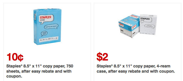 New Staples Coupons 0 10 Ream Of Paper 2 Case Of Paper More