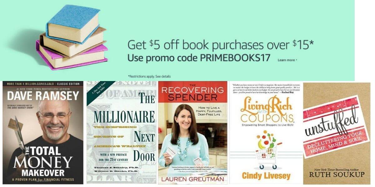 amazon book coupon 5 off 15