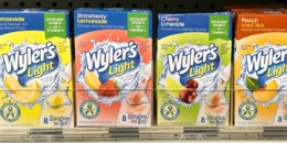 New $1/4 Wyler's Light Drink Mix Coupon - $0.60 at Walgreens, $0.75 at ShopRite & More