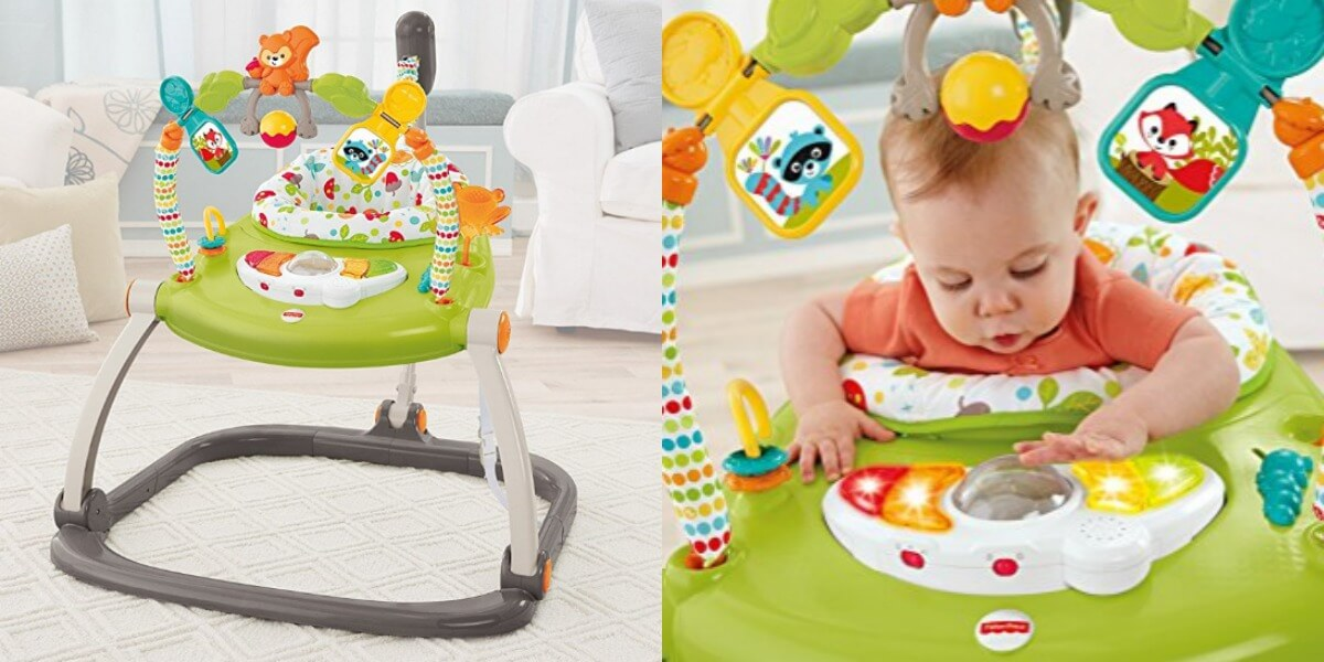 a0dc9209eb75 Prime Only Fisher-Price Woodland Friends SpaceSaver Jumperoo  31.79 ...