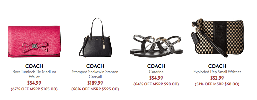 41ec14f6e72b Up To 80 Off Select Coach Handbags Shoes Apparel And Accessories