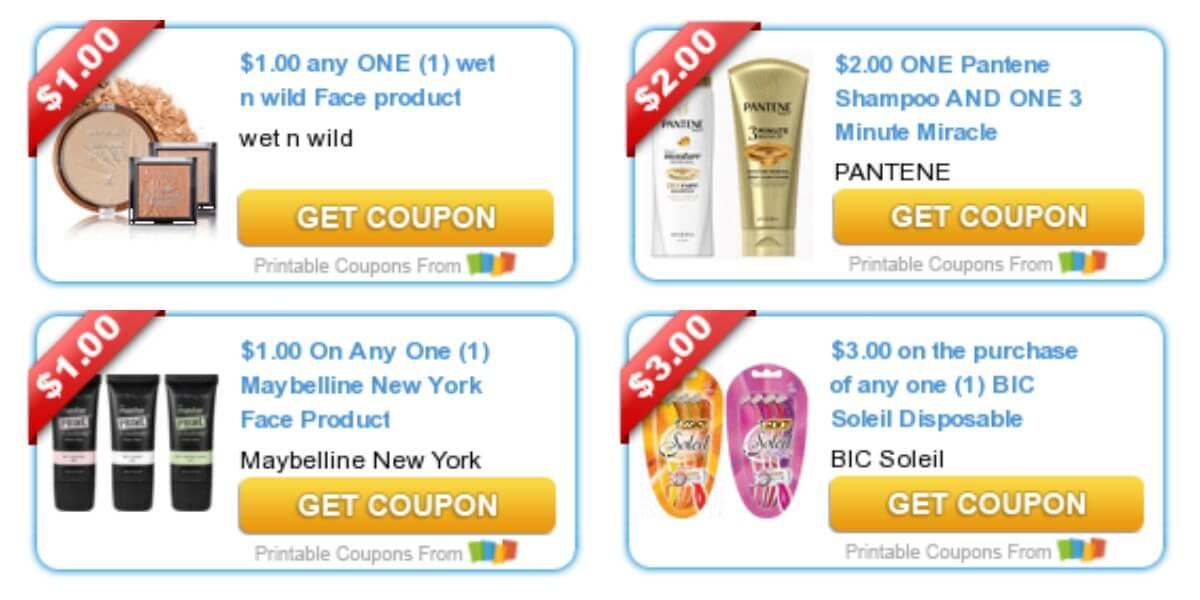 picture relating to Wet N Wild Printable Coupon referred to as Todays Final Refreshing Coupon codes - Cost savings versus Pantene, Clorox, Soaked