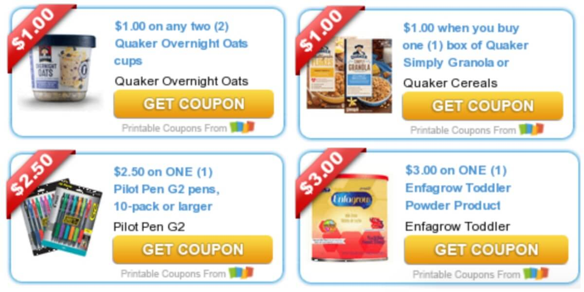 image relating to Nutella Printable Coupon identified as Todays Best Refreshing Coupon codes - Discounts versus Quaker, Nutella