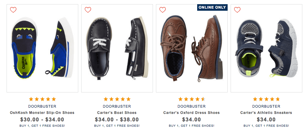 3a30250471 Osh Kosh B'Gosh and Carter's Shoes Buy 1 Get 1 FreeLiving Rich With ...