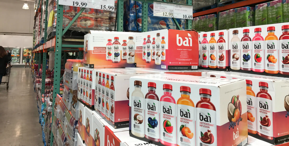 Costco Shoppers Bai Drinks Variety Pack 15 Ct Only 14
