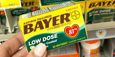 New $1/1 Bayer Aspirin Coupon + Deals at Walgreens, ShopRite & More