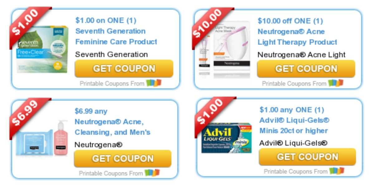 graphic regarding Advil Printable Coupon called Todays Final Contemporary Discount coupons - Cost savings versus Neutrogena, Hillshire