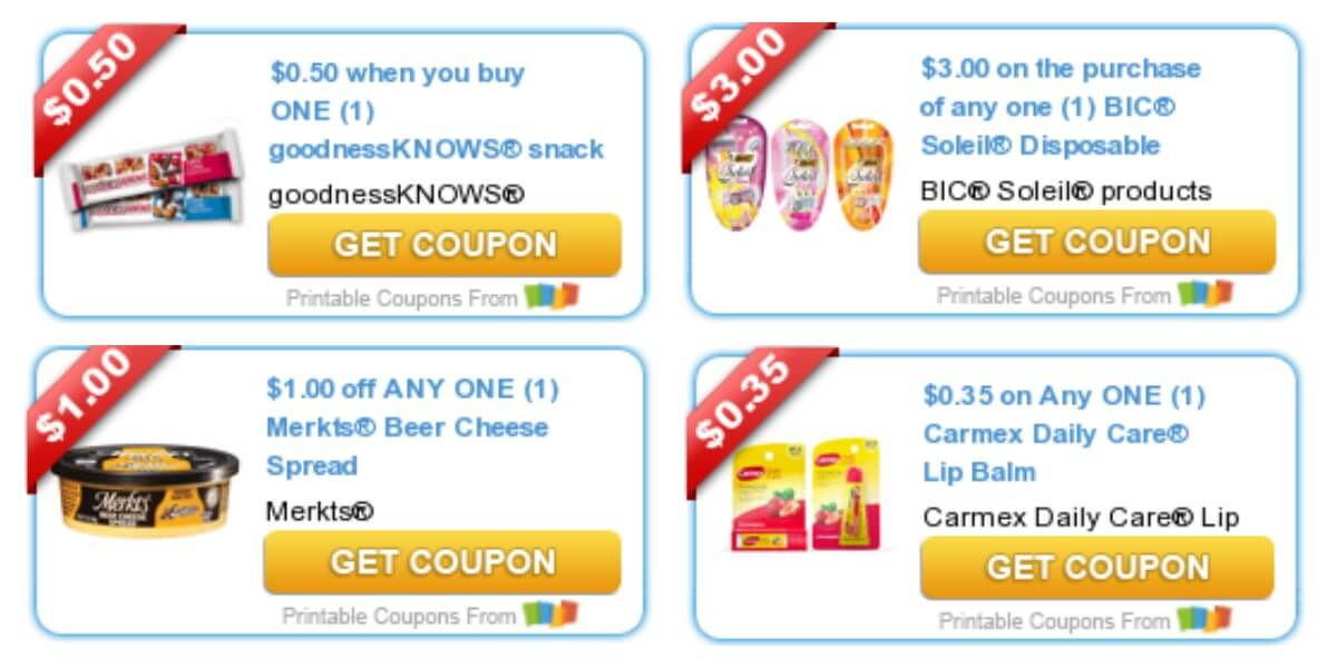 Today's Top New Coupons - Savings from BIC Razors, Merkets
