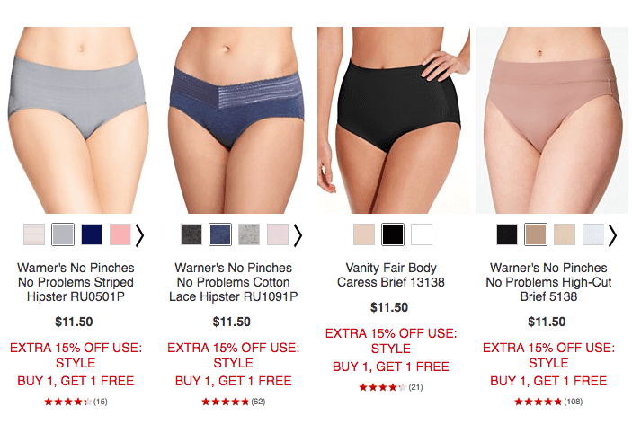 b7766b1215c5 Macy's: Buy 1 Get 1 FREE Bras and Panties + 15% OffLiving Rich With ...