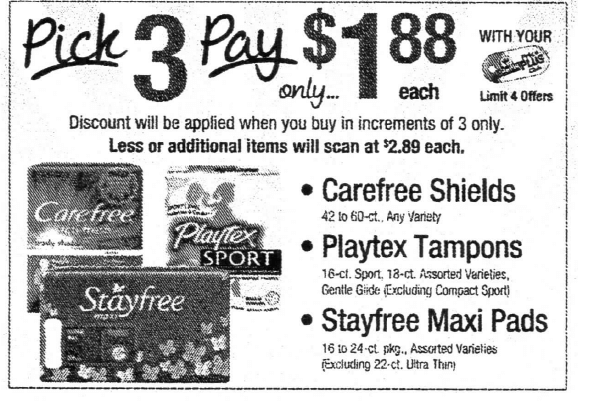 Better Than FREE Stayfree Pads, Carefree Liners & Playtex
