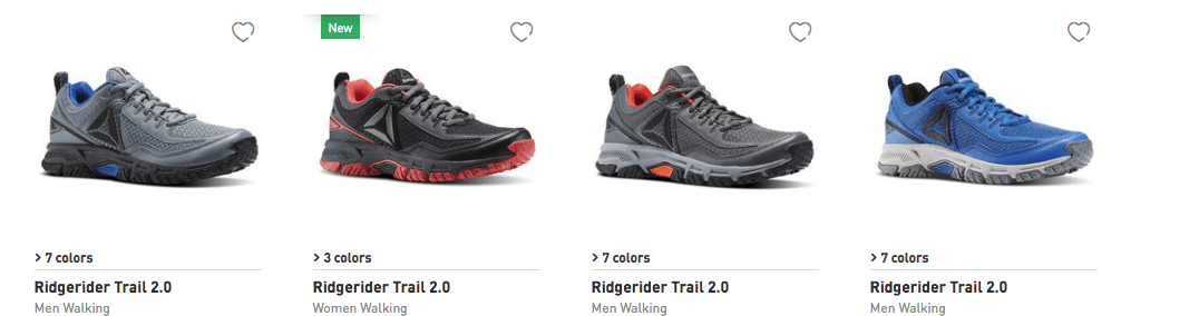 4c5f7ee0706b Pick up some new Reeboks. All Ridge Rider Walking Shoes are  25.99 (Reg.   60) with code RIDER. Plus Free Shipping!