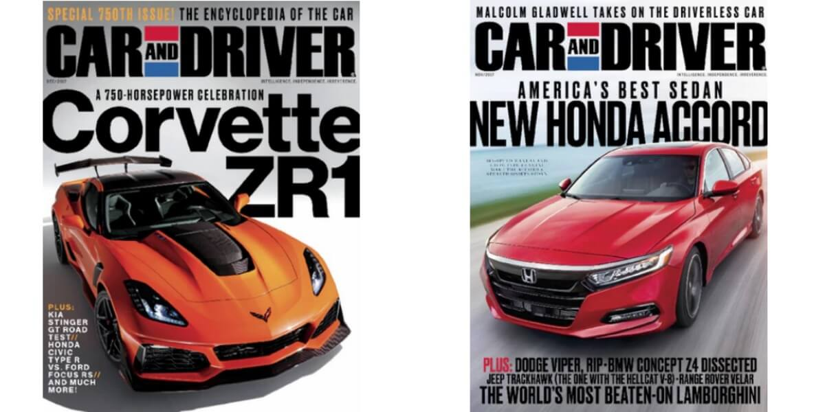 Awesome Car U0026 Driver Magazine $4.95 Per Year $15 For 4 Years