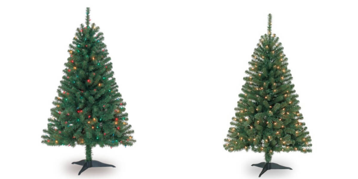4 ft pre lit hillside pine artificial christmas tree just 1999 reg 4999