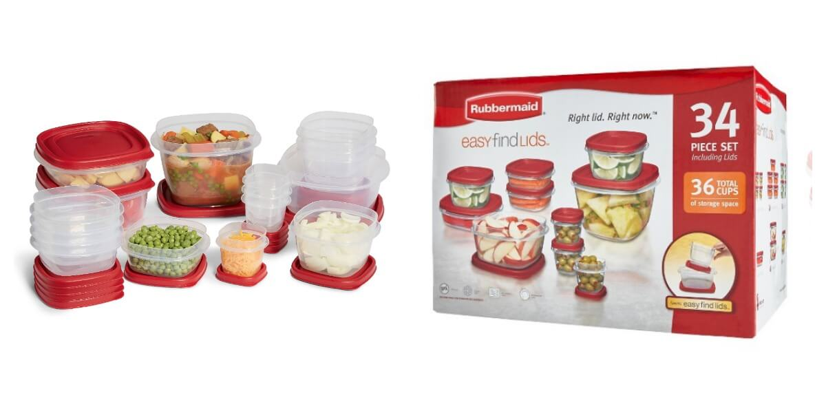 Target 34 Piece Rubbermaid Food Storage Container Set 665 Reg