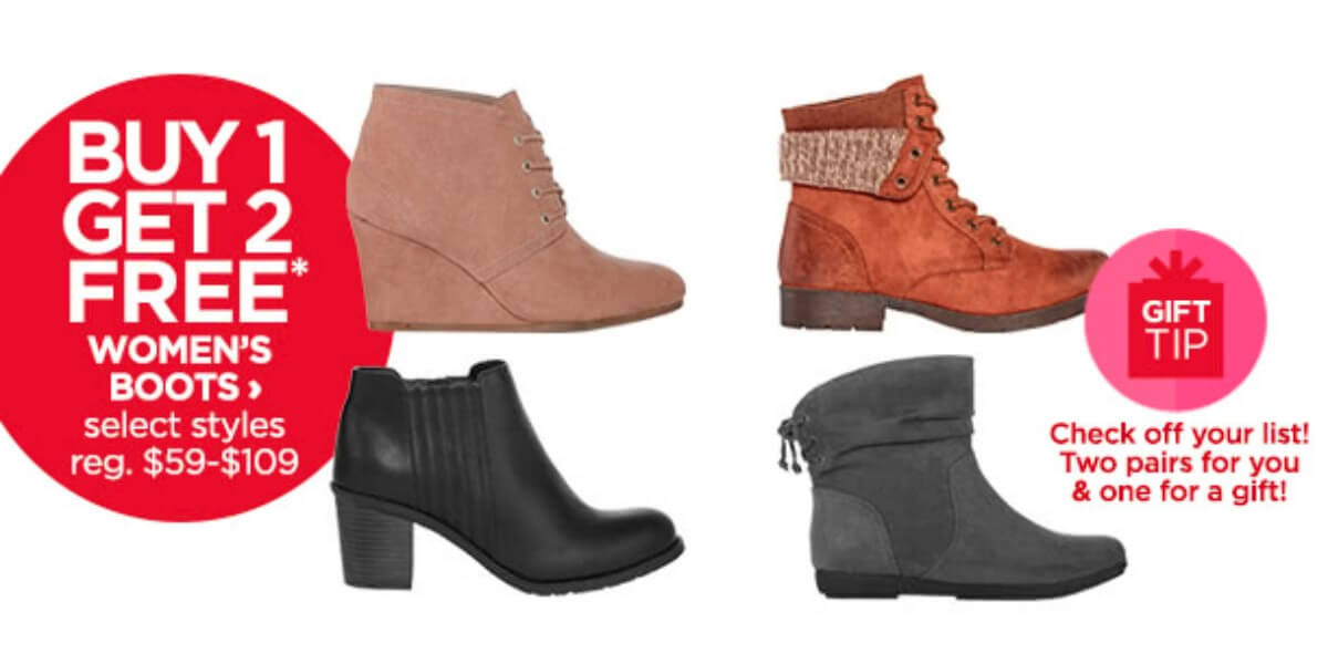 63372f4fb238 JCPenney  Buy 1 Get 2 Free Women s Boots + Additional 15% OffLiving ...