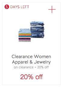 dcff9e110de Clip  Clearance Women Clothing Cartwheel Offer. Save an extra 20% ...