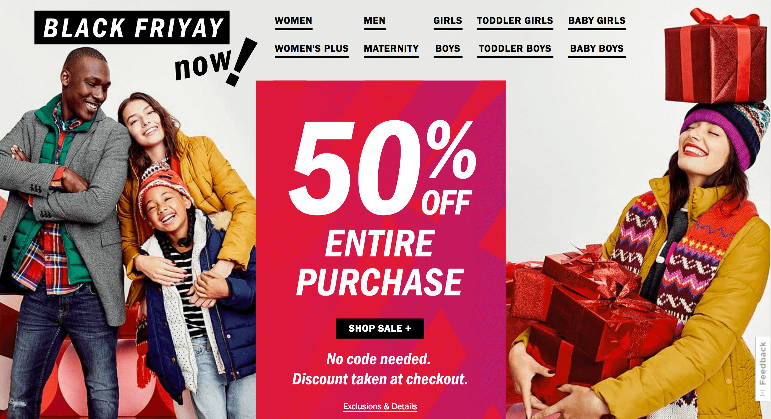 Old Navy Black Friday Sale is LIVE NOW - 50% off Everything!Living ...