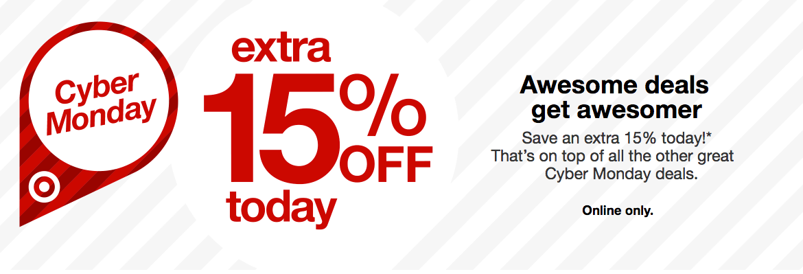 8f9764676683 Extra 15% Off Almost Everything at Target.com!  Today Online Only ...