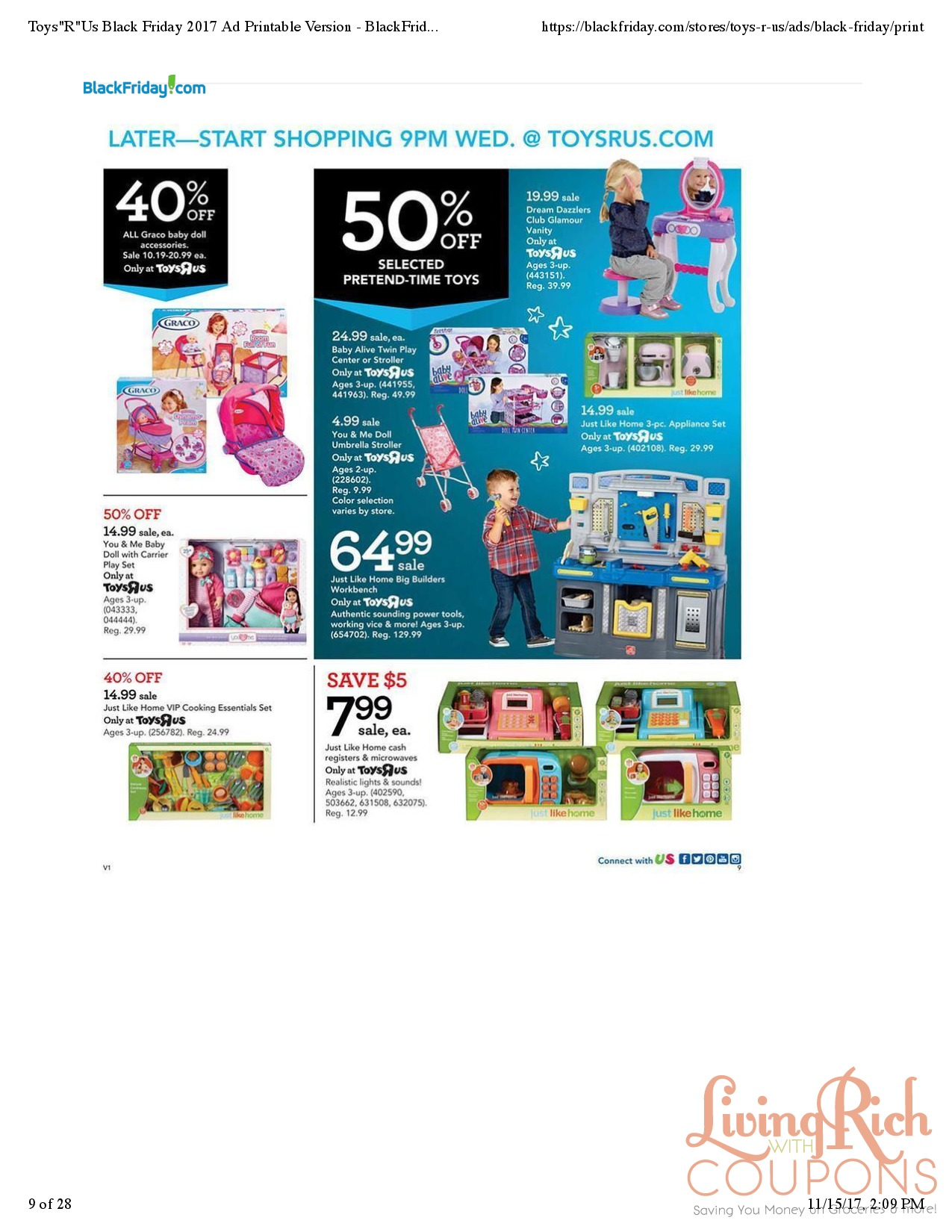 Toys R Us Black Friday Ad, Hours & Deals -Living Rich With Coupons®