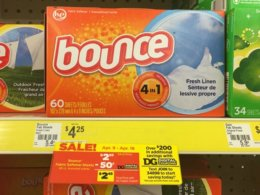 Bounce Fabric Softener Sheets Just $0.95 at Dollar General!