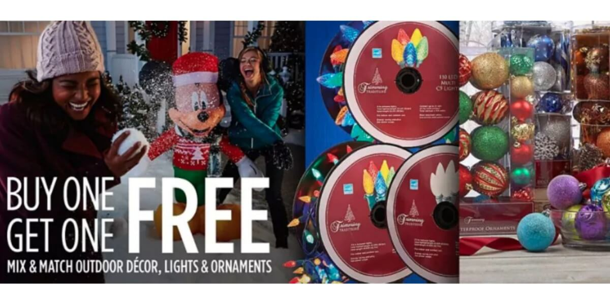 Sears Buy 1 Get 1 Free Christmas Lighting, Decorations & More