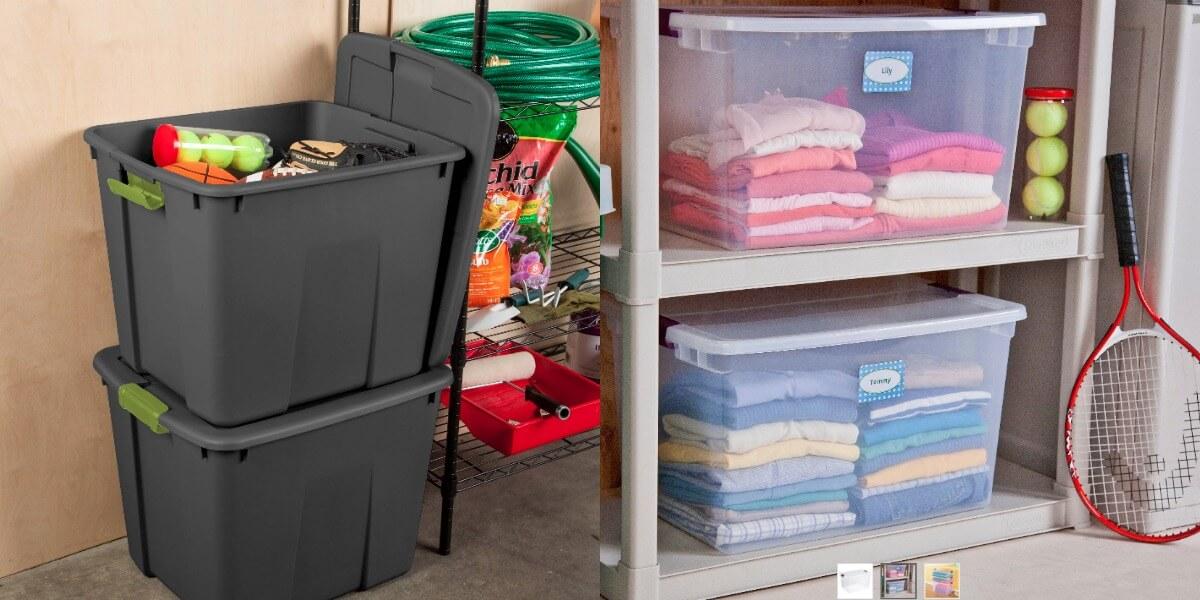 Target 20-Gallon Sterilite Latching Storage Tote w/ Lid $5 u0026 More + Free In-Store Pickup & Target: 20-Gallon Sterilite Latching Storage Tote w/ Lid $5 u0026 More + ...