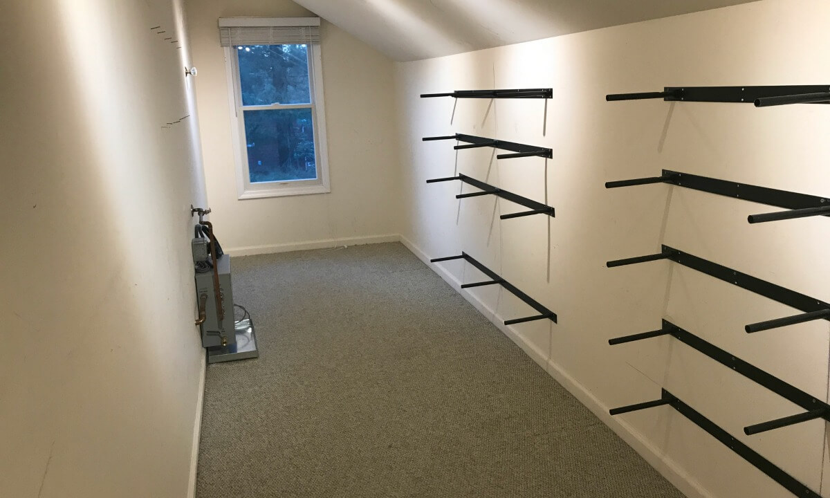Beyond The Main Closet Area Was A Dormer, Attic Type Space That Wasnu0027t  Being Used Properly. It Stored An Unused Piece Of Exercise Equipment, ...