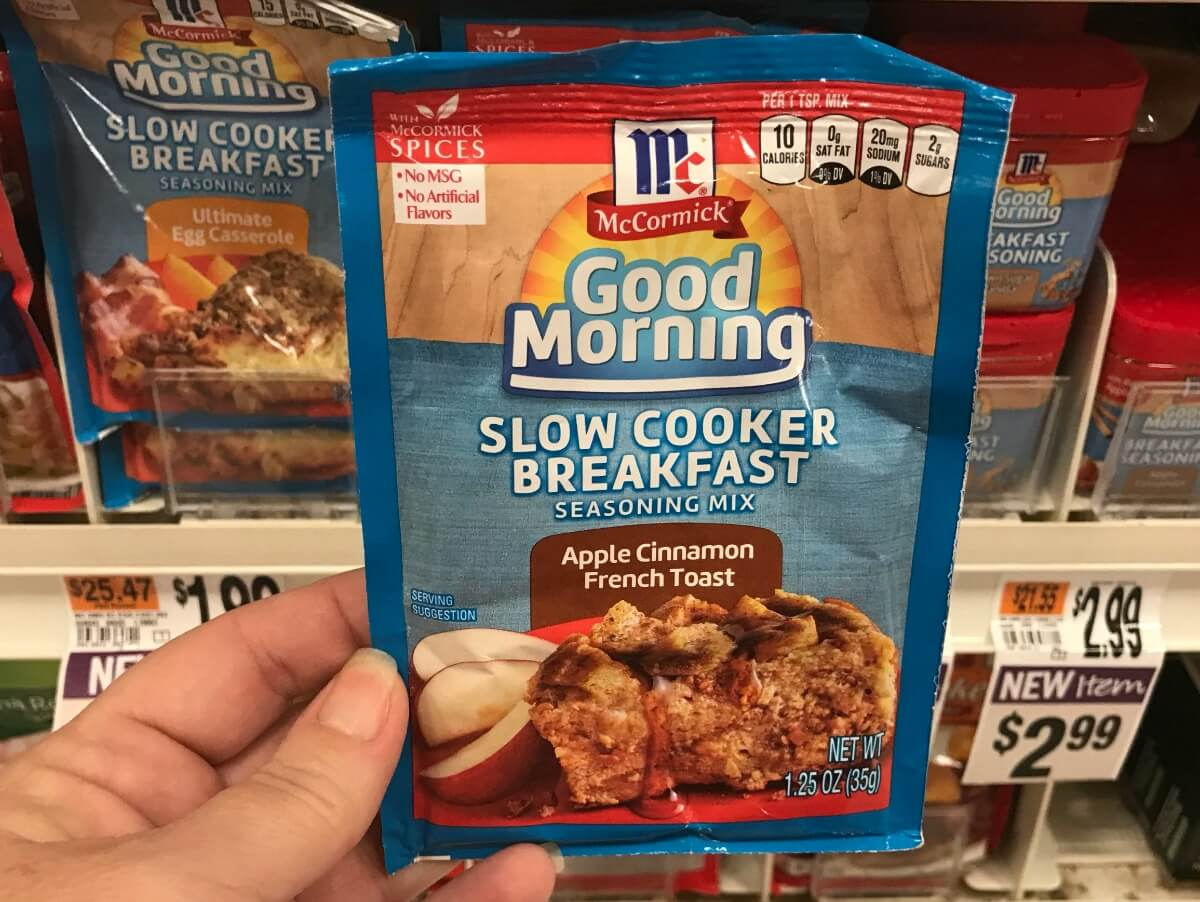 Better than FREE McCormick Good Morning Slow Cooker Packets