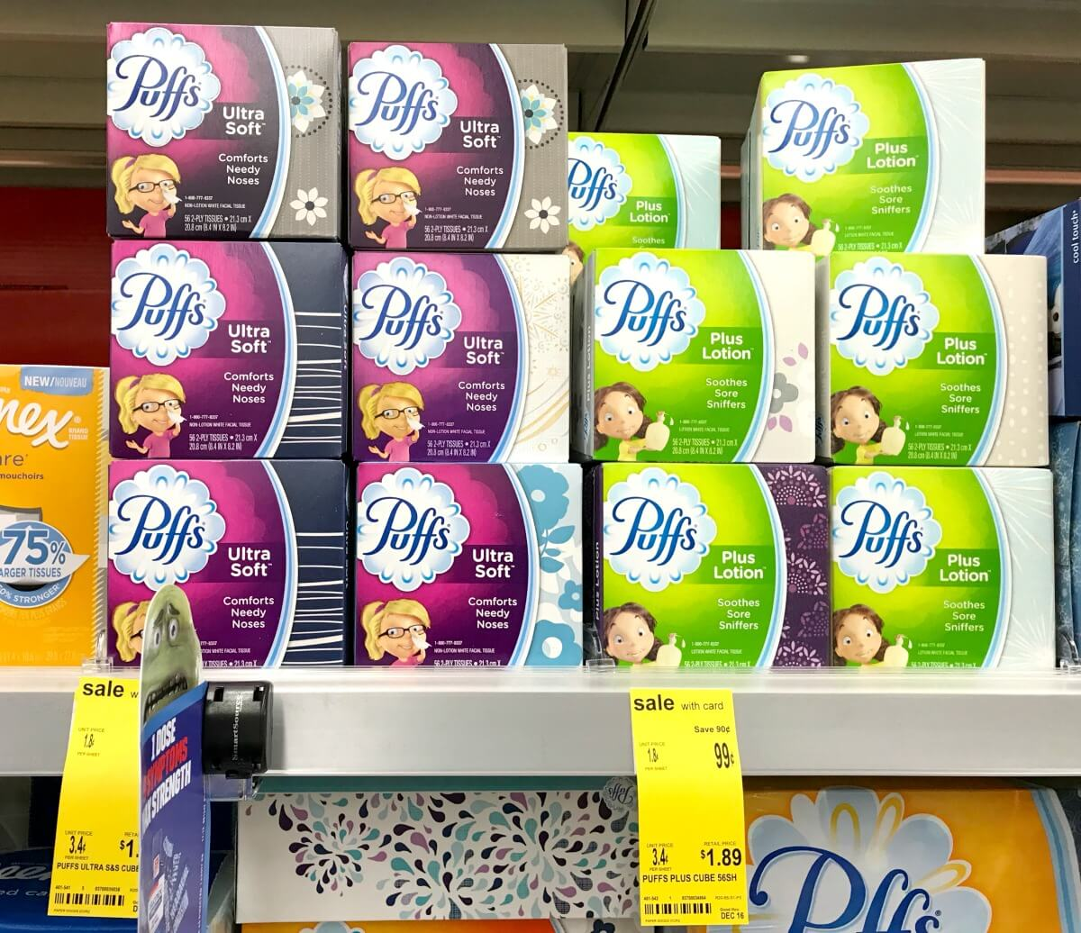 Puffs Facial Tissue Cubes Only $0.74 at Walgreens!