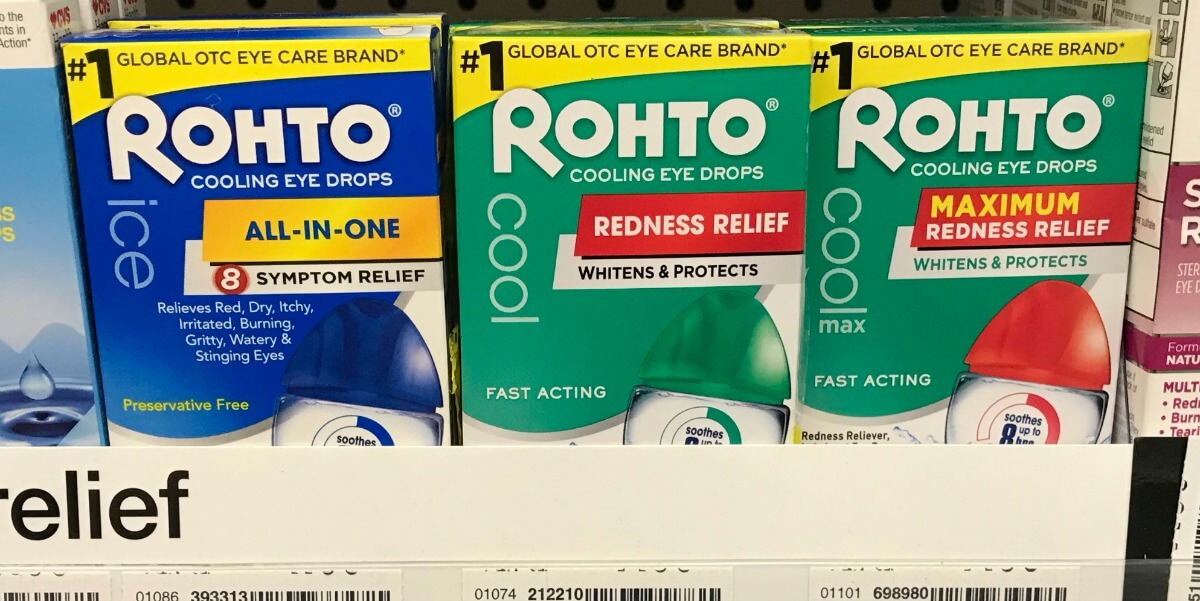Rohto Dry Aid Dry Eye Relief Only $1.99 at CVS! {Reg. $13.99}