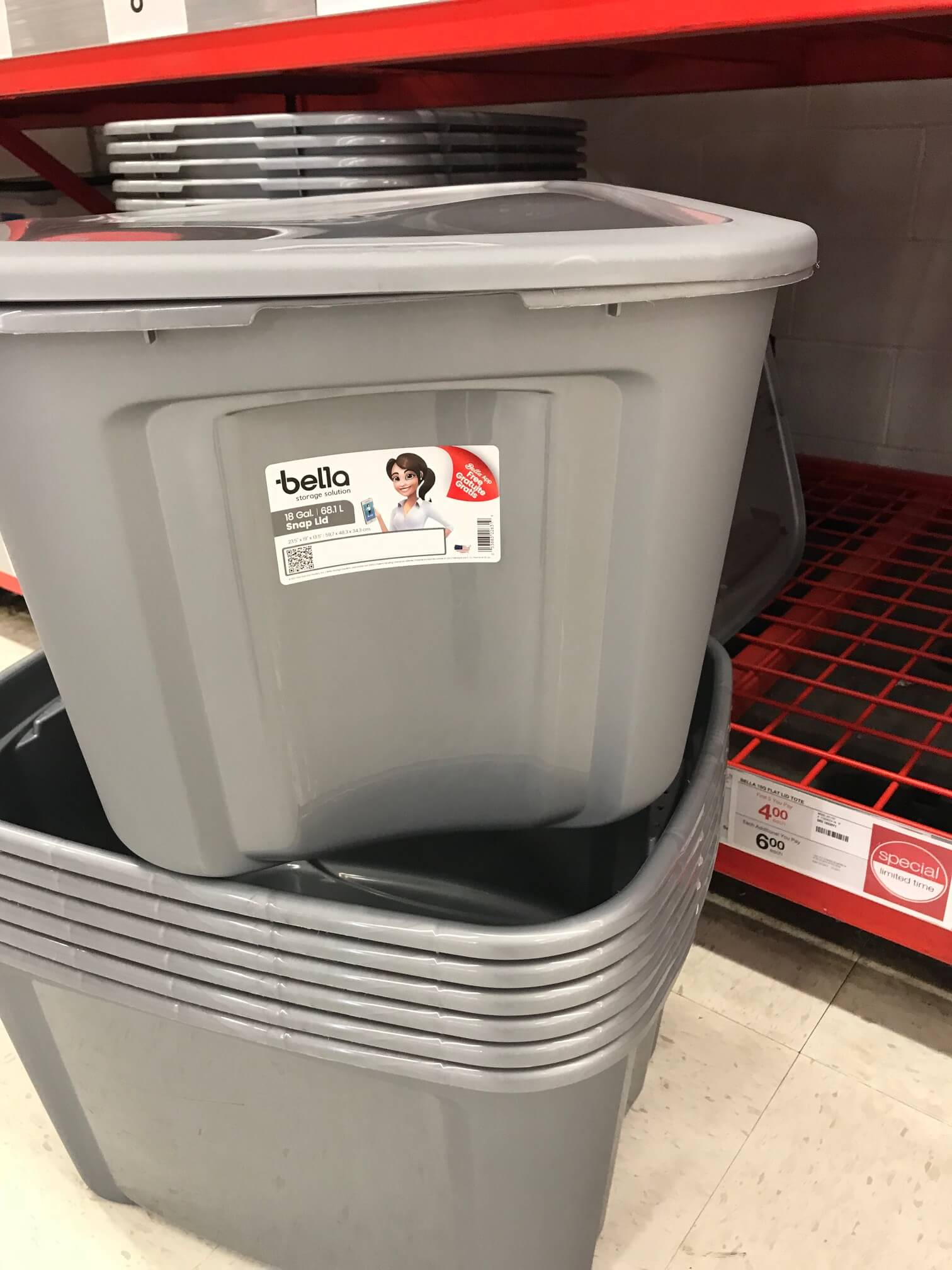 Stock Up! Bella 18-Gallon Storage Tote Only $4 at Staples Reg. $7.99 + Holiday Gift Ideas! & Staples Black Friday - HP 17