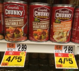Campbell's Chunky Soups as Low as $1 at Stop & Shop