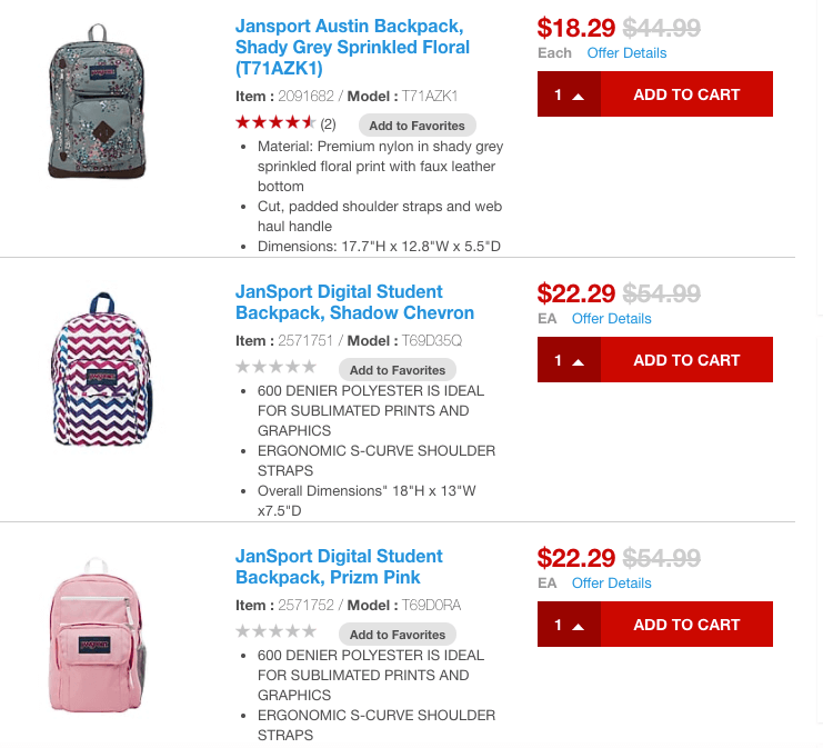 Staples: Select Jansport Backpacks 60% OffLiving Rich With