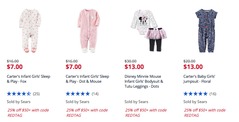 d7c8723e1 Sears Up to 70% off Clearance Baby/Children's Winter Clothing + ...