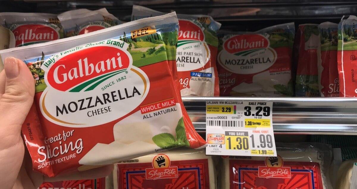 Galbani Mozzarella Cheese Just $0.99 at ShopRite !{3/18}