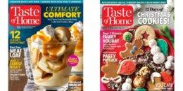 Taste of Home Magazine $4.95/Year