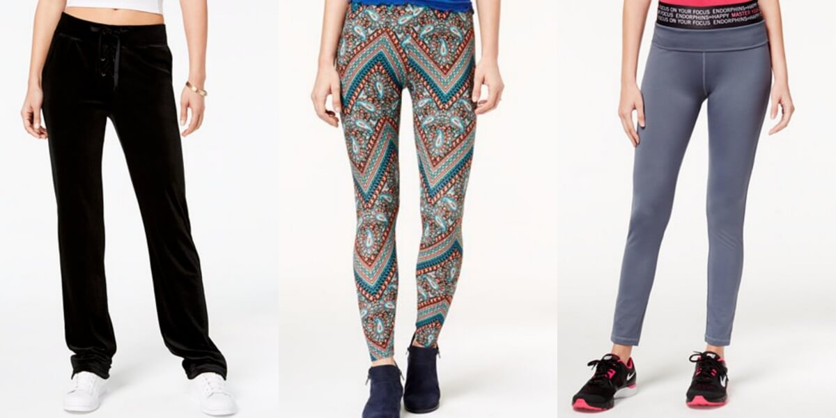 62ed2dc0ca017 Macy s  Up to 85% Off Women s Leggings and Sweatpants Starting at  4.96!