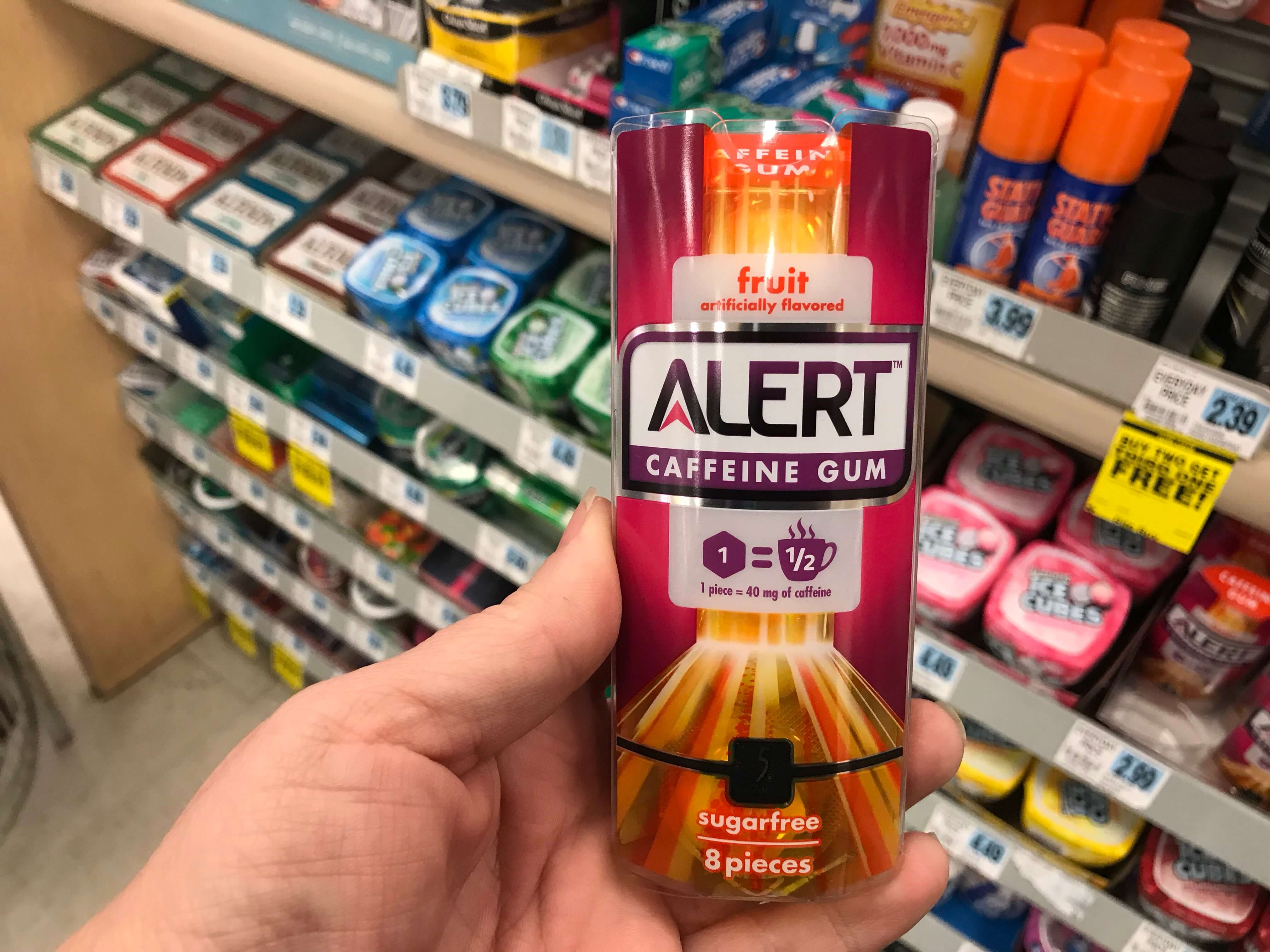 Alert Caffeine Gum Just 099 At Rite Aid