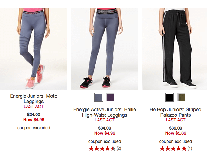 0d8b7bb69de Up to 85% Off Women's Leggings and Sweatpants Starting at $4.96! Free Store  pickup if avaialble or Shipping is free on orders over $99 or when you add  a ...