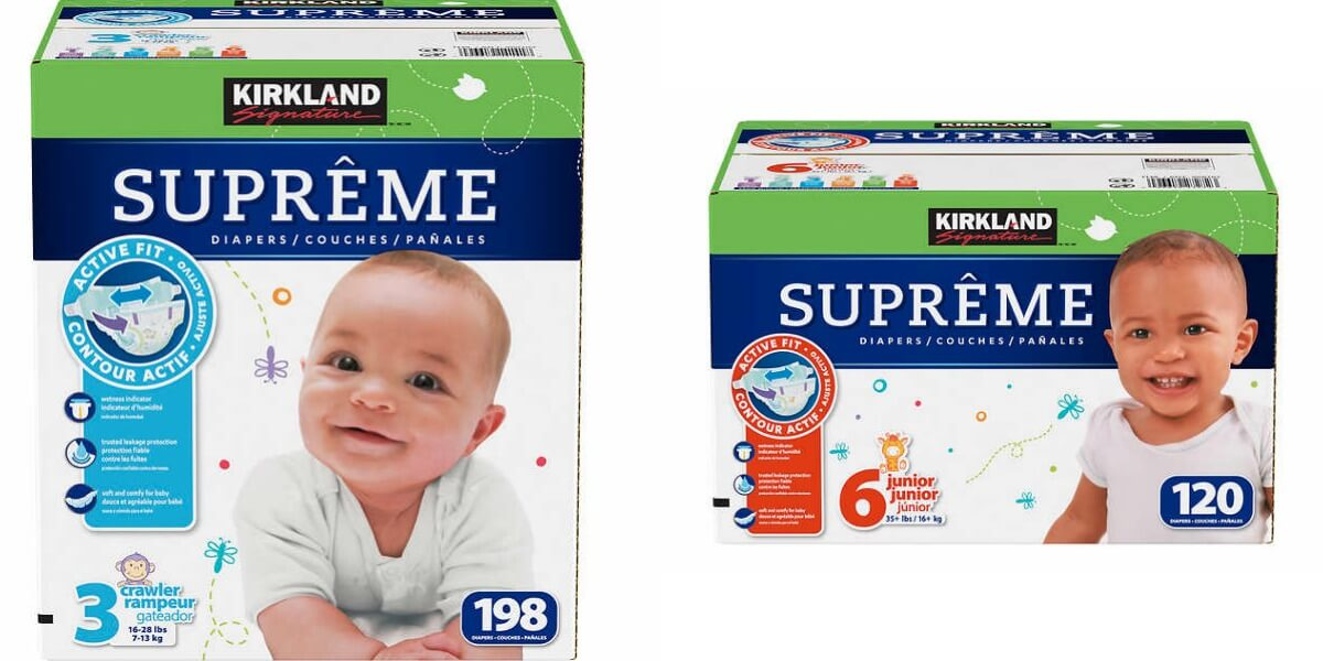Costco Members Kirkland Signature Supreme Diapers Sizes 1 6 8
