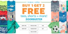 Carter's Buy 1 Get 2 FREE Tees, Leggings & Shorts