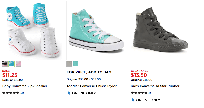 66529890a9c4 Kohl s  Converse Chuck Taylor All-Stars Starting at  12!Living Rich ...