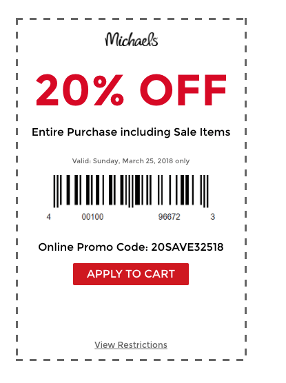 Michaels Has Tons Of Gift And Decorating Ideas Get An Extra 20 Off Entire Online Purchase Including Sale Items With Code 20SAVE32518 Plus Free Shipping