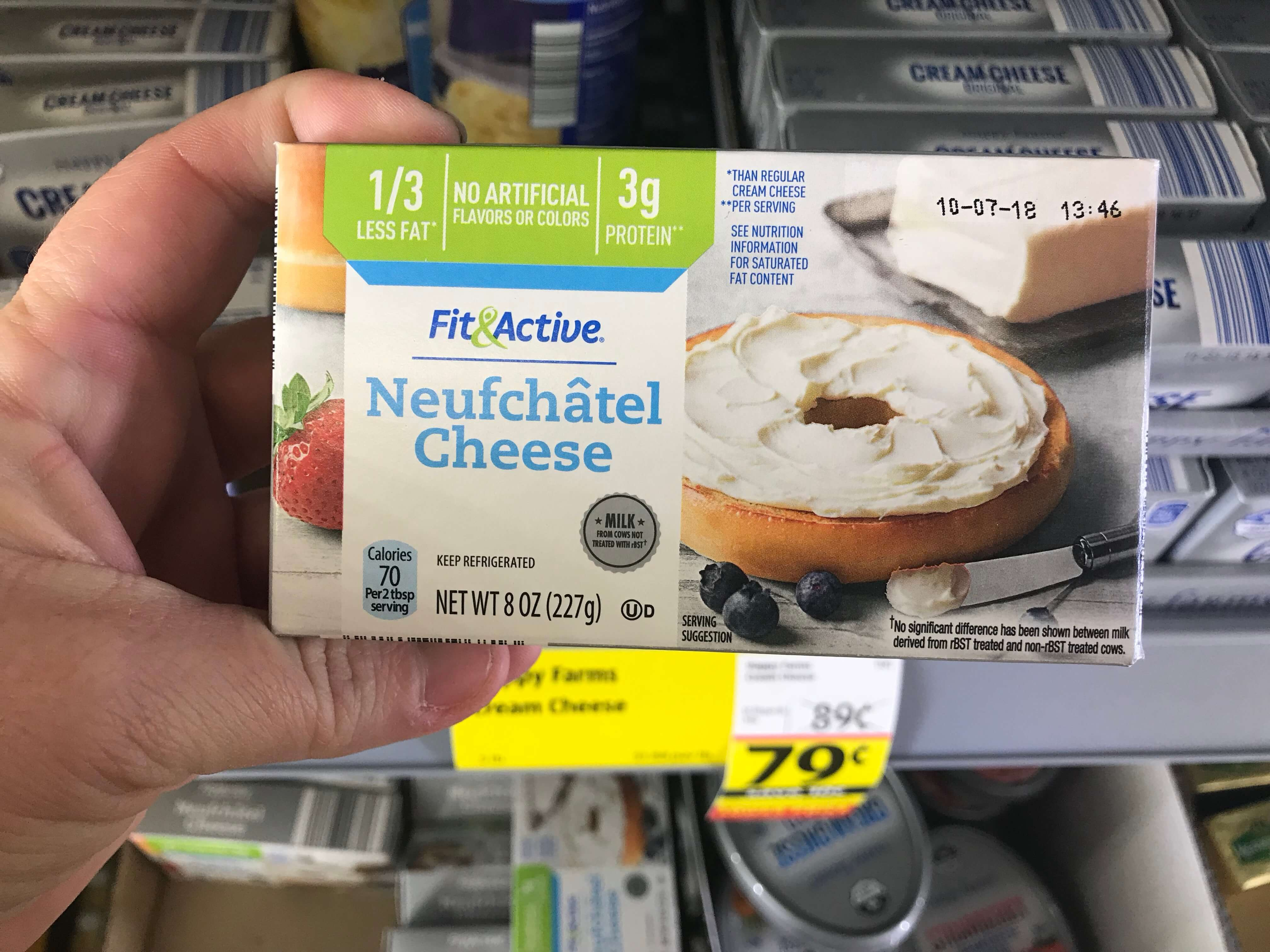 Happy Farms Cream Cheese or Fit & Active Neufchatel $0 79 at